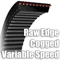 Raw Edge Cogged Variable Speed